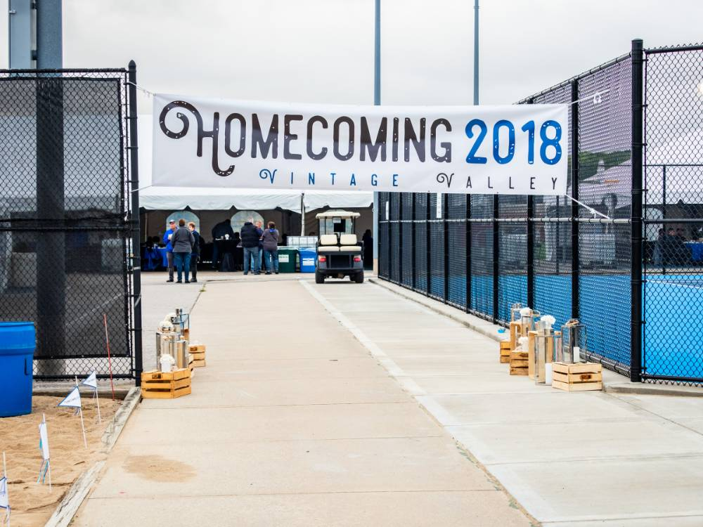 Homecoming 2018 Vintage Valley banner